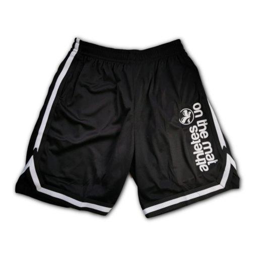 Short de sport homme, noir et blanc