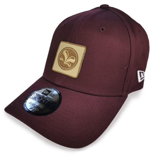 Casquette 9Forty New Era burgundy de côté