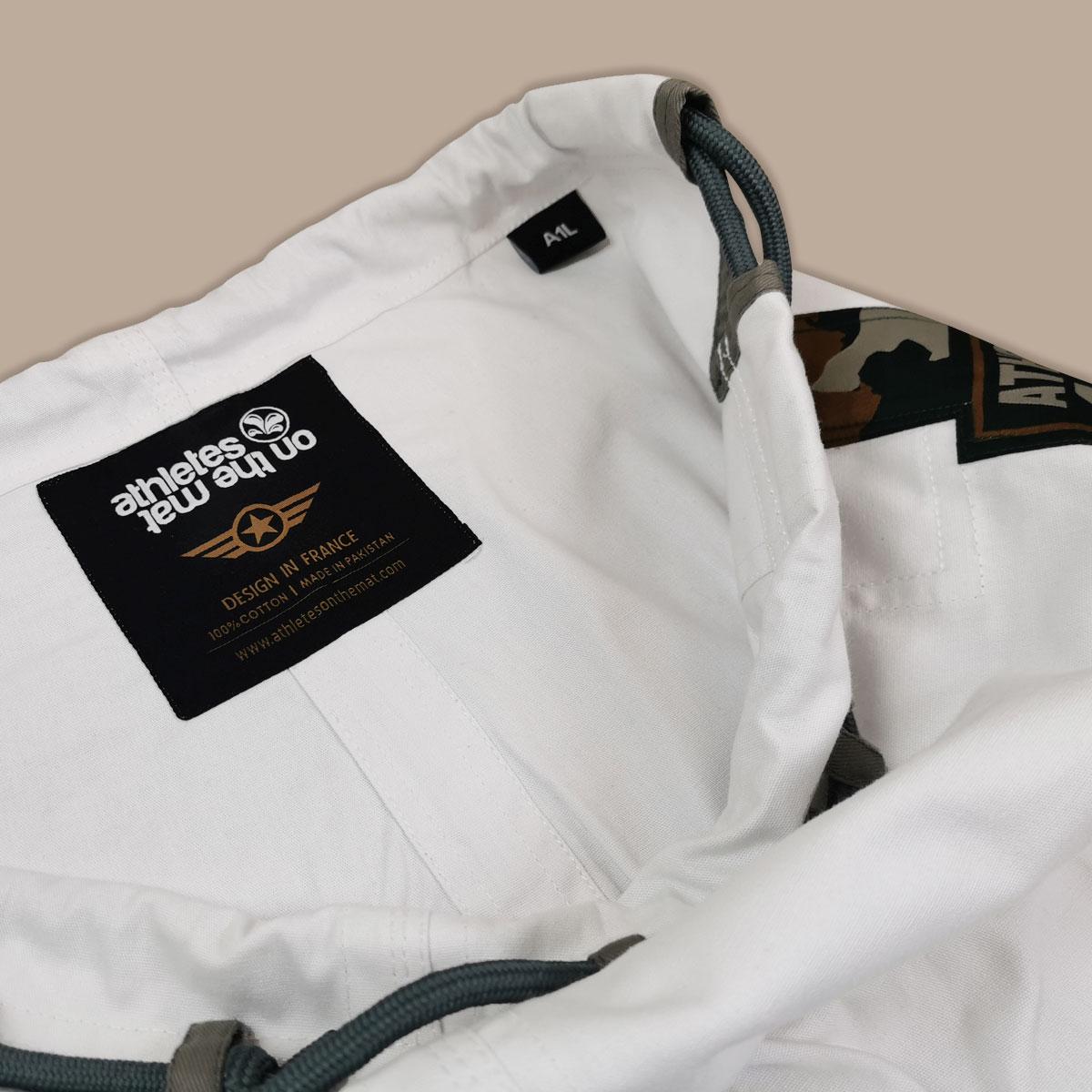 intérieur du pantalon du kimono de JJB Camo