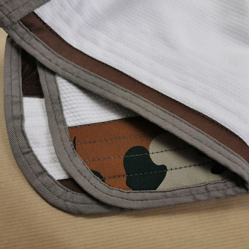 details interieur de la veste du kimono de JJB Camo