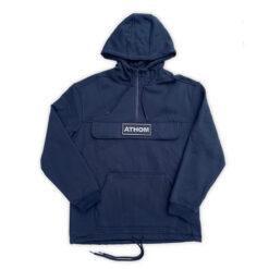 hoodie à capuche avec écusson brodé
